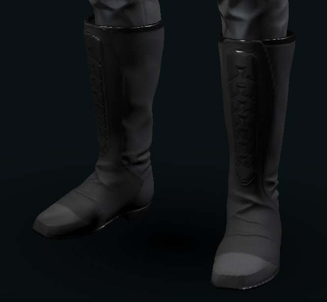 EVE Online Mens Ascend Boots grey and silver