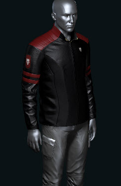 EVE Online Mens Marshall Jacket Blood Raiders black and red