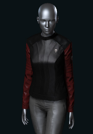 EVE Online Womens Gunner Jacket Blood Raiders black