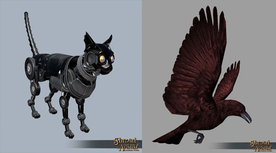 TT Shroud of the Avatar - Black Clockwork Cat and Blood Raven Pack
