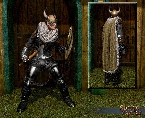 TT Shroud of the Avatar Viking Cloak and Helmet Bundle