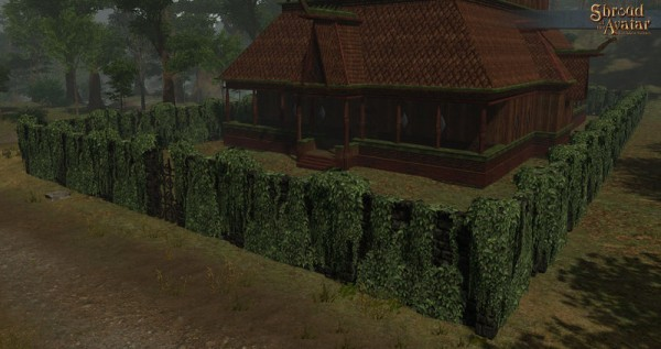 TT Shroud of the Avatar - Tall Ivy Covered Stone Fence