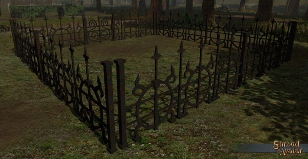 TT Shroud of the Avatar - Ornate Rusted Iron Fence Pack