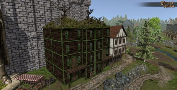 TT Shroud of the Avatar - Elven Four-Story with Alcove (Row Home)