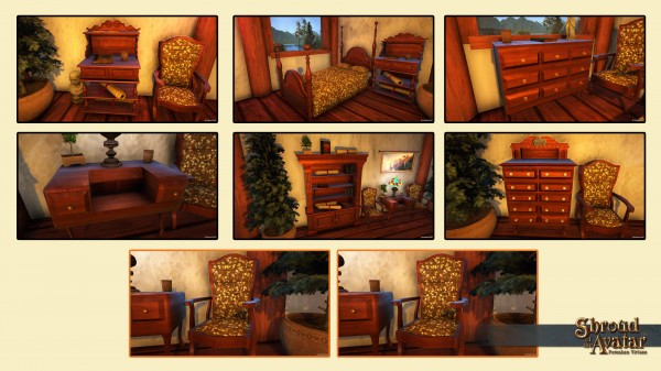TT Shroud of the Avatar Fine Oak Furniture Set
