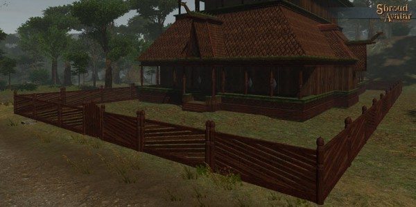 TT Shroud of the Avatar Ornate Carmine Wooden Fence