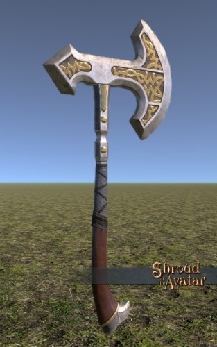 TT Shroud of the Avatar Ornate Norgard Battle Axe