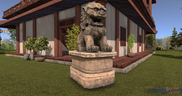 TT Shroud of the Avatar Large Guardian Lion Statue