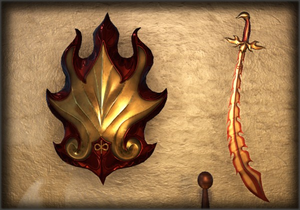 TT Shroud of the Avatar Flame Scimitar and Shield Pack