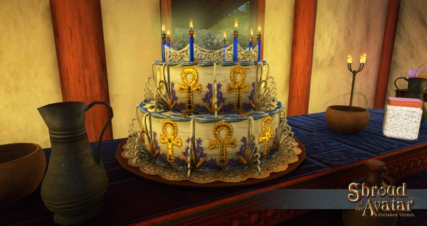 TT Shroud of the Avatar 2017 Replenishing Lord British Birthday Cake