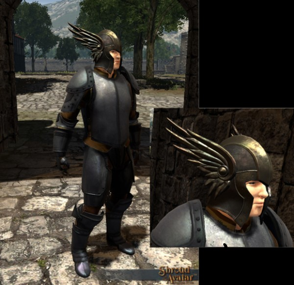 TT Shroud of the Avatar Knight Marshal's Winged Helm