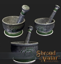 TT Shroud of the Avatar Founders Artisan Mortar and Pestle
