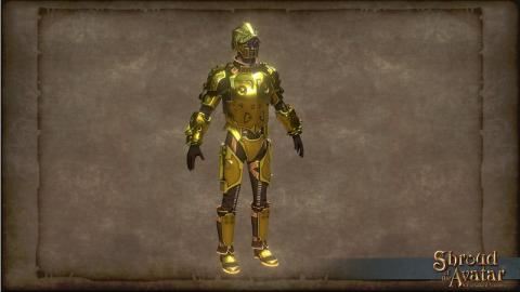 TT Shroud of the Avatar Golden Clockwork Armor