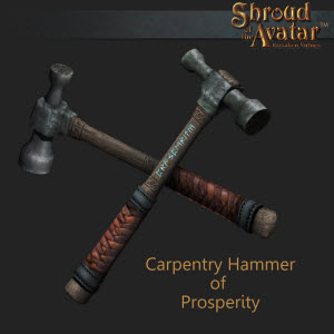 TT Shroud of the Avatar Carpentry Hammer of Prosperity