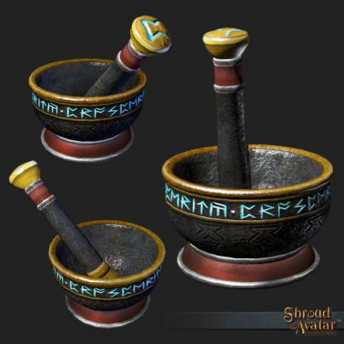 TT Shroud of the Avatar Mortar and Pestle of Prosperity