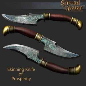 TT Shroud of the Avatar Skinning Knife of Prosperity
