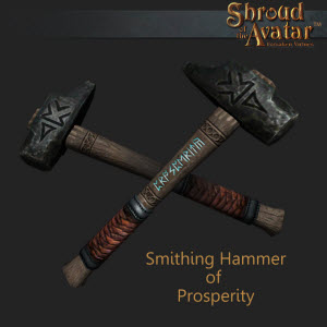 TT Shroud of the Avatar Smithing Hammer of Prosperity