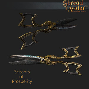 TT Shroud of the Avatar Tailoring Scissors of Prosperity