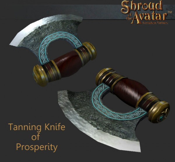 TT Shroud of the Avatar Tanning Knife of Prosperity