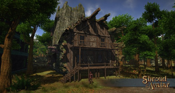 TT Shroud of the Avatar Hollow Log Two-Story Village Home