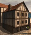 TT Shroud of the Avatar Wood & Plaster Three-Story Row Home