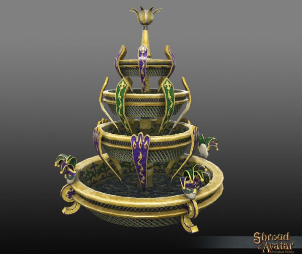 TT Shroud of the Avatar Mardi Gras Fountain