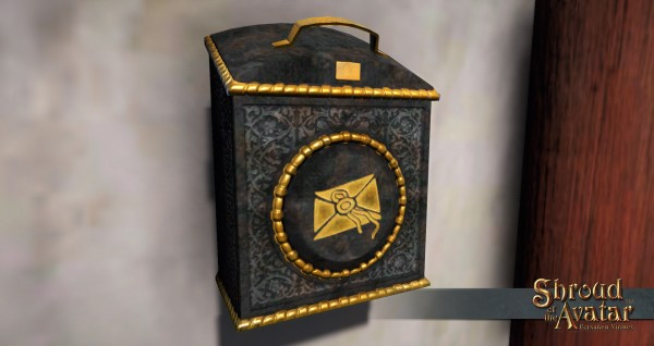 TT Shroud of the Avatar 2x Ornate Wall Mailbox
