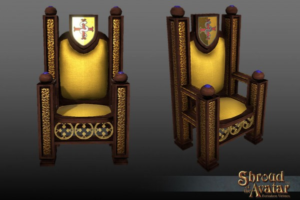 TT Shroud of the Avatar Golden Lord British Throne