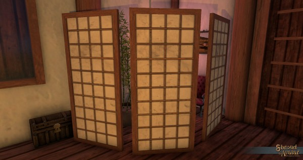 TT Shroud of the Avatar Ornate Shogun Room Divider 3-Pack