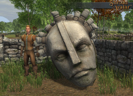 TT Shroud of the Avatar Oracle Statue Head
