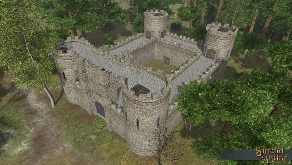 TT Shroud of The Avatar Stone 2-Story Keep with Courtyard Town Home