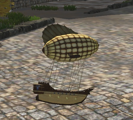 TT Shroud of the Avatar Tiny Airship Decoration Pet