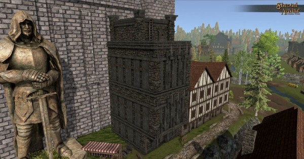 TT Shroud of the Avatar Obsidian 4-Story Row Home