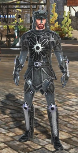 TT Shroud of the Avatar Darkstarr Black Chainmail Armor Set