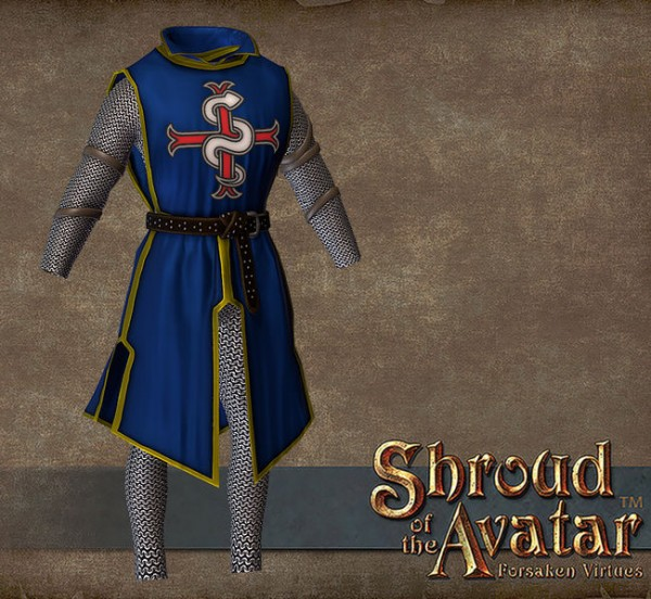 TT Shroud of the Avatar Founder Heraldry Tabard Chain Armor Set