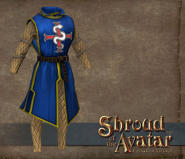 TT Shroud of the Avatar Founder Heraldry Tabard Cloth Armor Set