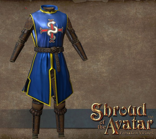 TT Shroud of the Avatar Founder Heraldry Tabard Leather Armor Set
