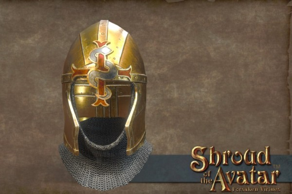 TT Shroud of the Avatar Golden Lord British Helmet