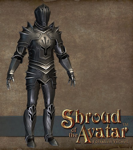 TT Shroud of the Avatar Obsidian Order Plate Armor Set