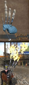 TT Shroud of the Avatar Flaming and Frozen Bagpipes Bundle