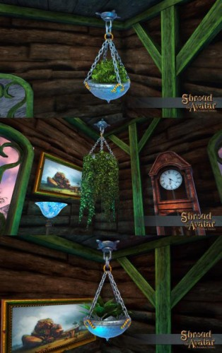 TT Shroud of the Avatar Ornate Hanging Potted Plant Pack