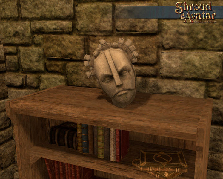 TT Shroud of the Avatar Tabletop Oracle Head Statue