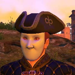 TT Shroud of the Avatar Virtue Tricorn Hat With Carnival Mask