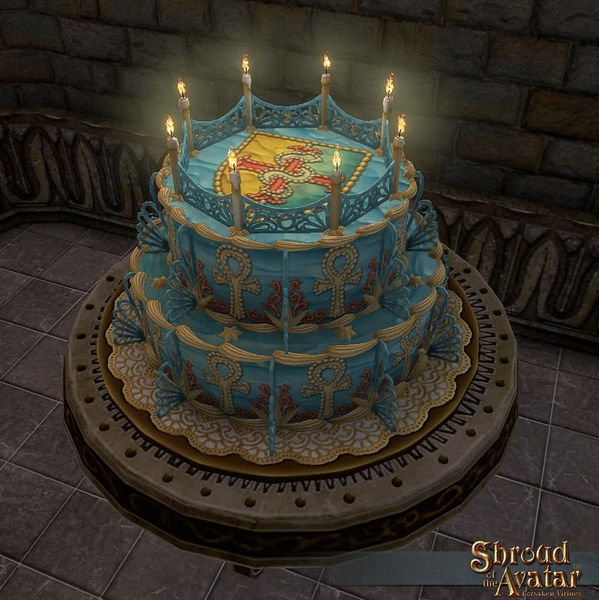 TT Shroud of the Avatar Replenishing Lord British Birthday Cake 2016