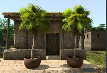 TT Shroud of the Avatar Potted Fountain Palm Tree 3-Pack