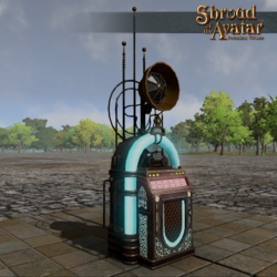TT Shroud of the Avatar Broadcast Automated Phonograph with Wax Cylinders