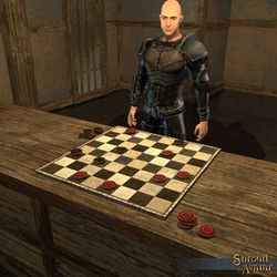 TT Shroud of the Avatar Tabletop Checkers Set