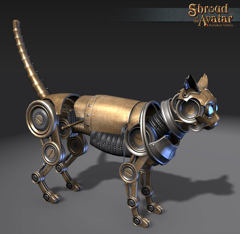 Shroud of the Avatar - Brass Clockwork Cat (digital)