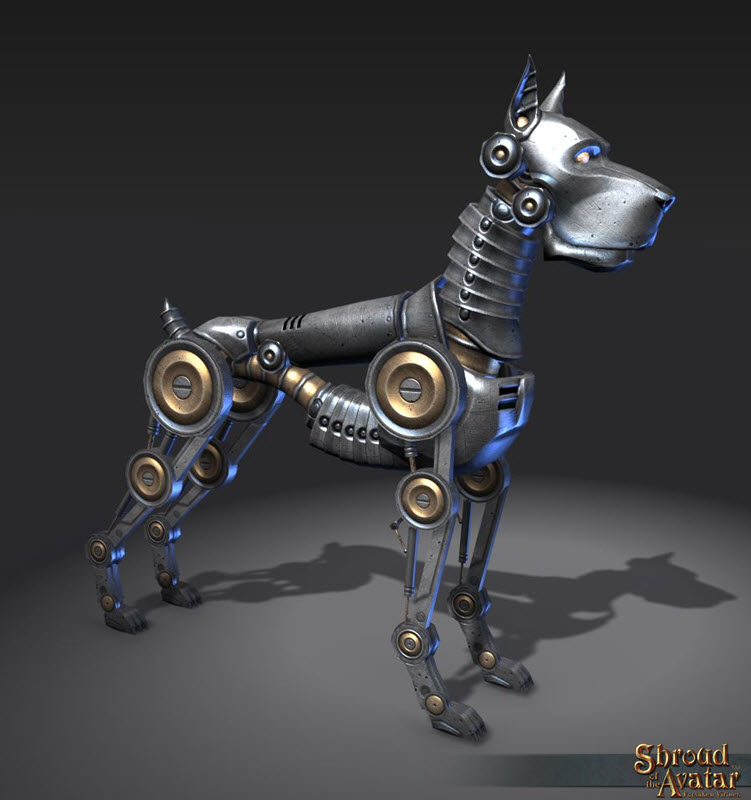Shroud of the Avatar - Silver Clockwork Dog (digital)