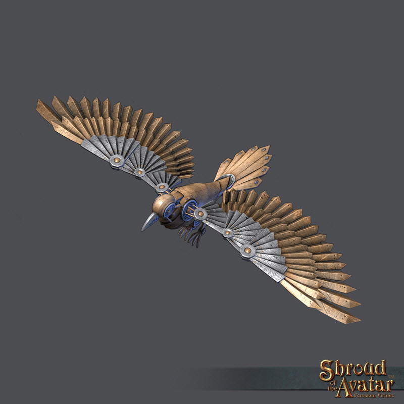 Shroud of the Avatar - Brass Clockwork Raven (digital)